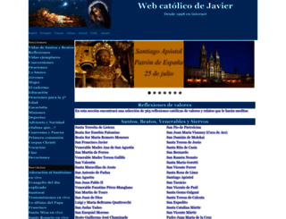 webcatolicodejavier.org screenshot