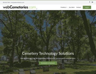 webcemeteries.com screenshot
