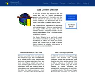 webcontentextractor.com screenshot