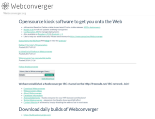 webconverger.org screenshot