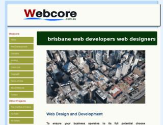 webcore.com.au screenshot