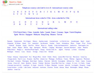 webcountrycode.com screenshot