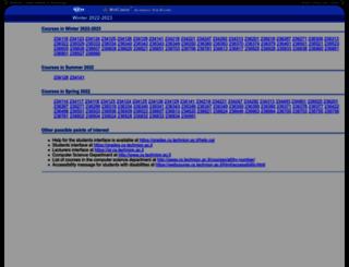 webcourse.cs.technion.ac.il screenshot