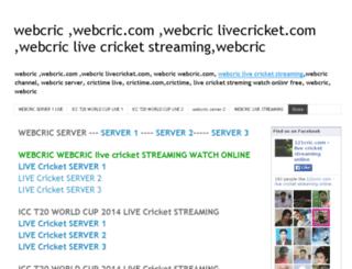 webcric-webcric-livecricket.blogspot.ae screenshot