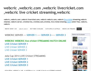 webcric-webcric-livecricket.blogspot.com screenshot