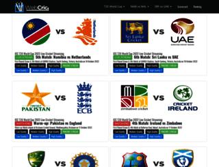 webcric.com screenshot