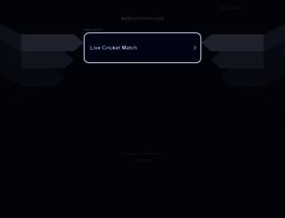 webcrictime.com screenshot