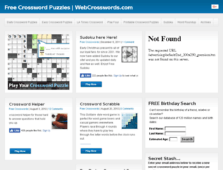 webcrosswords.com screenshot