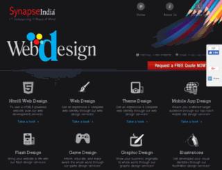 webdesign.synapseindia.com screenshot