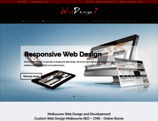 webdesign7.com.au screenshot