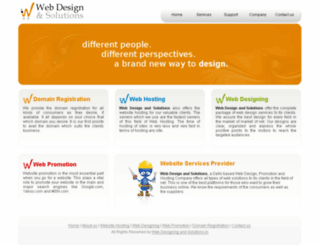 webdesignandsolutions.in screenshot