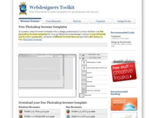 webdesignerstoolkit.com screenshot