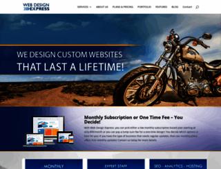 webdesignexpress.com screenshot