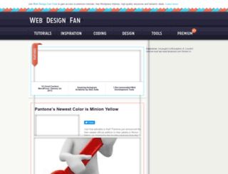 webdesignfan.com screenshot