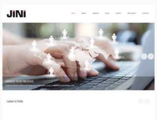 webdesignjini.com screenshot