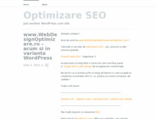 webdesignoptimizare.wordpress.com screenshot