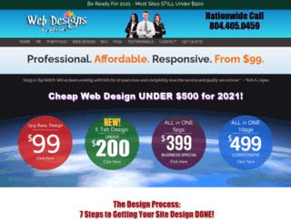 webdesignsbyozone.com screenshot