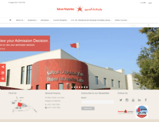 webdev.polytechnic.bh screenshot