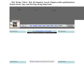 webdev.quickfound.net screenshot
