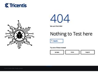 webdev.tricentis.com screenshot