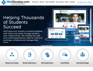 webdevelop.com screenshot