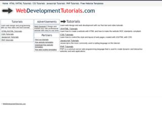 webdevelopmenttutorials.com screenshot