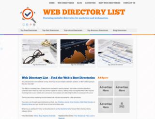 webdirectorylist.com screenshot