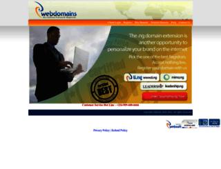 webdomains.com.ng screenshot