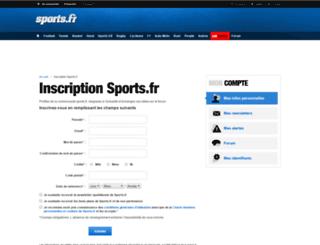 webdyn.sports.fr screenshot