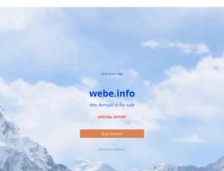 webe.info screenshot