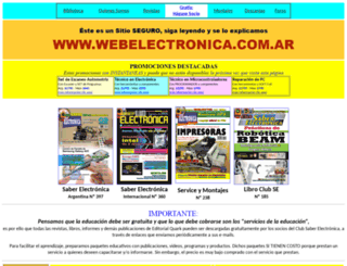 webelectronica.com.ar screenshot