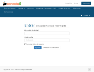 webempresa.conecta6.com screenshot