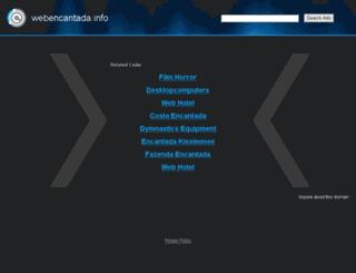 webencantada.info screenshot