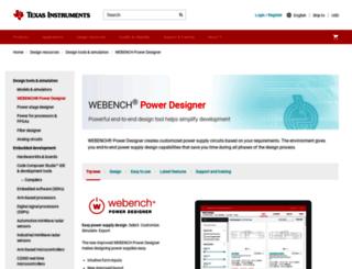 webench.ti.com screenshot