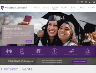 weber.edu screenshot