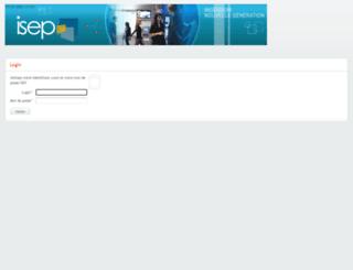 weberp.isep.fr screenshot