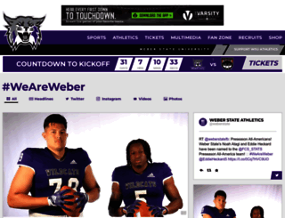 weberstatesports.com screenshot
