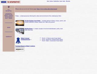 weberstudies.weber.edu screenshot