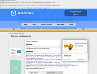 webestools.com screenshot