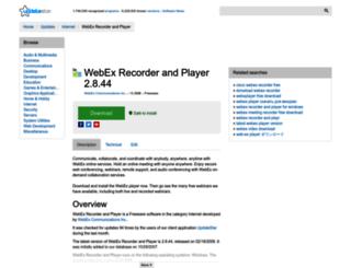 webex-recorder-and-player.updatestar.com screenshot
