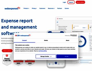 webexpenses.com screenshot