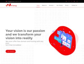 webexpressonline.net screenshot
