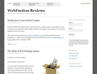 webfactionreviews.net screenshot