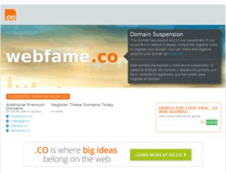 webfame.co screenshot