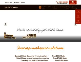 webfarm2.servcorp.com screenshot
