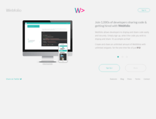 webfol.io screenshot