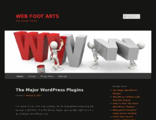 webfootarts.com screenshot