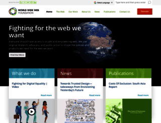 webfoundation.org screenshot