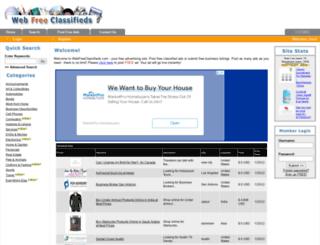 webfreeclassifieds.com screenshot