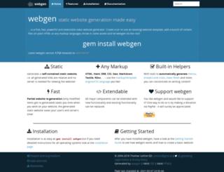webgen.gettalong.org screenshot
